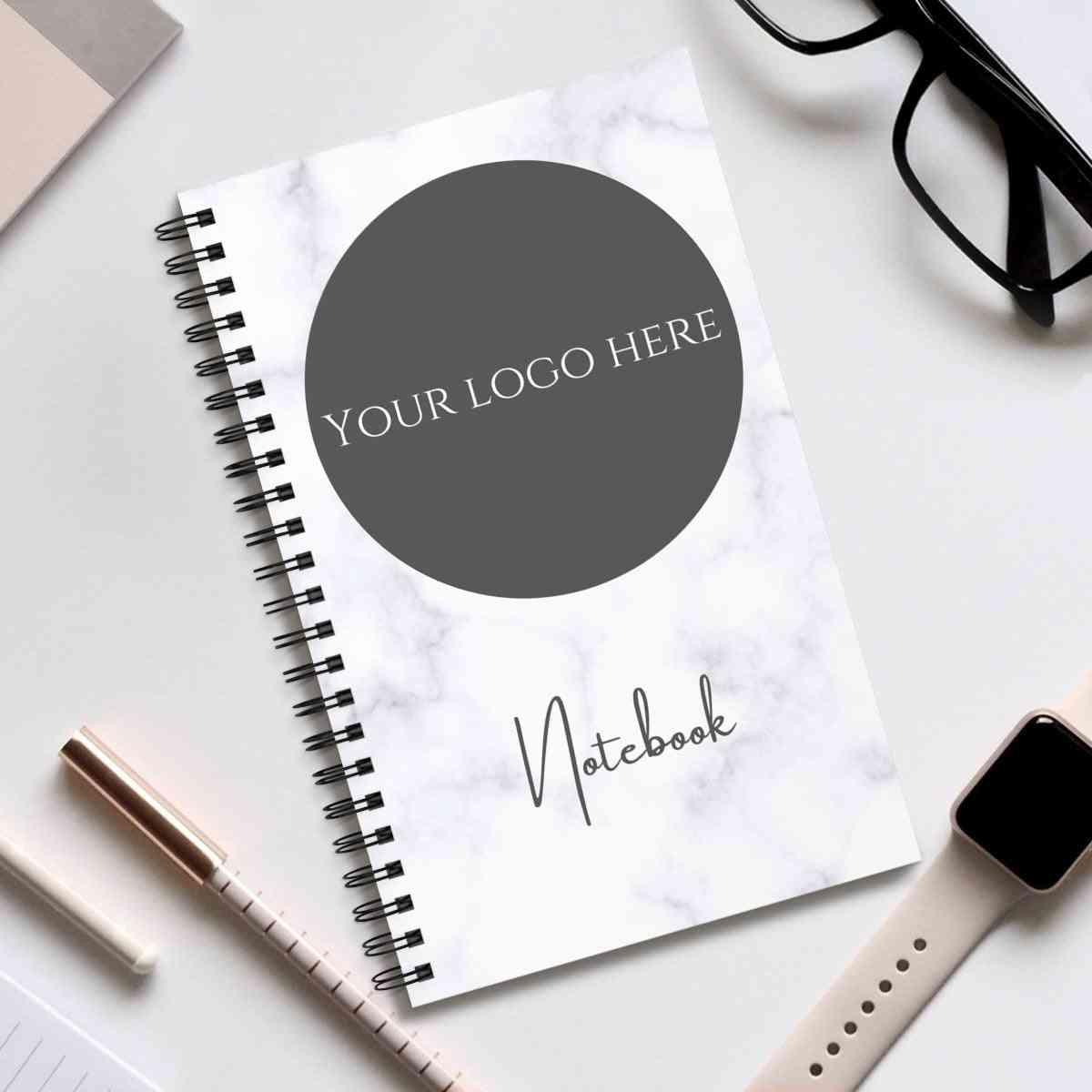 Logo Notebook - Marble Design