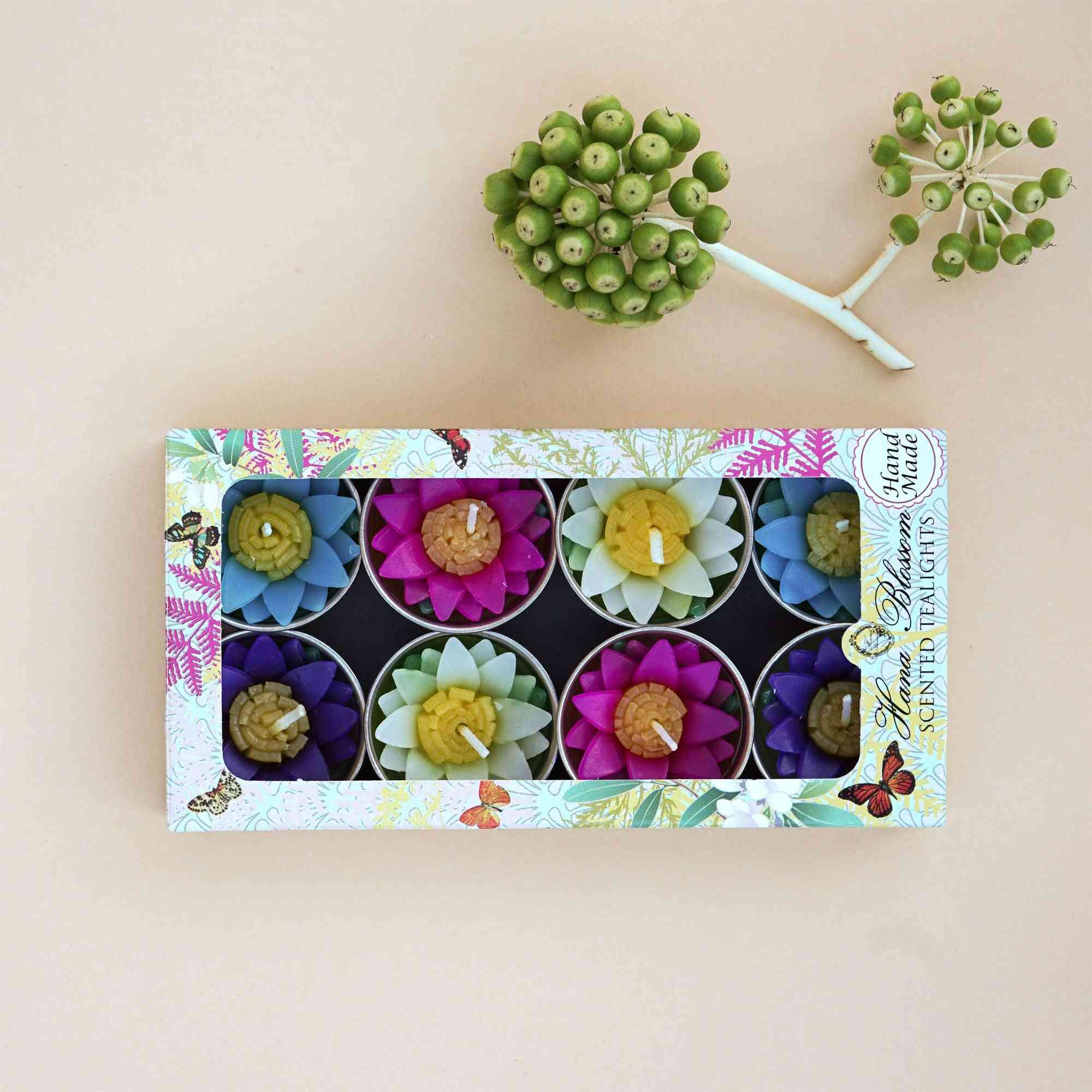 Assorted Water Lily Scented Tealights
