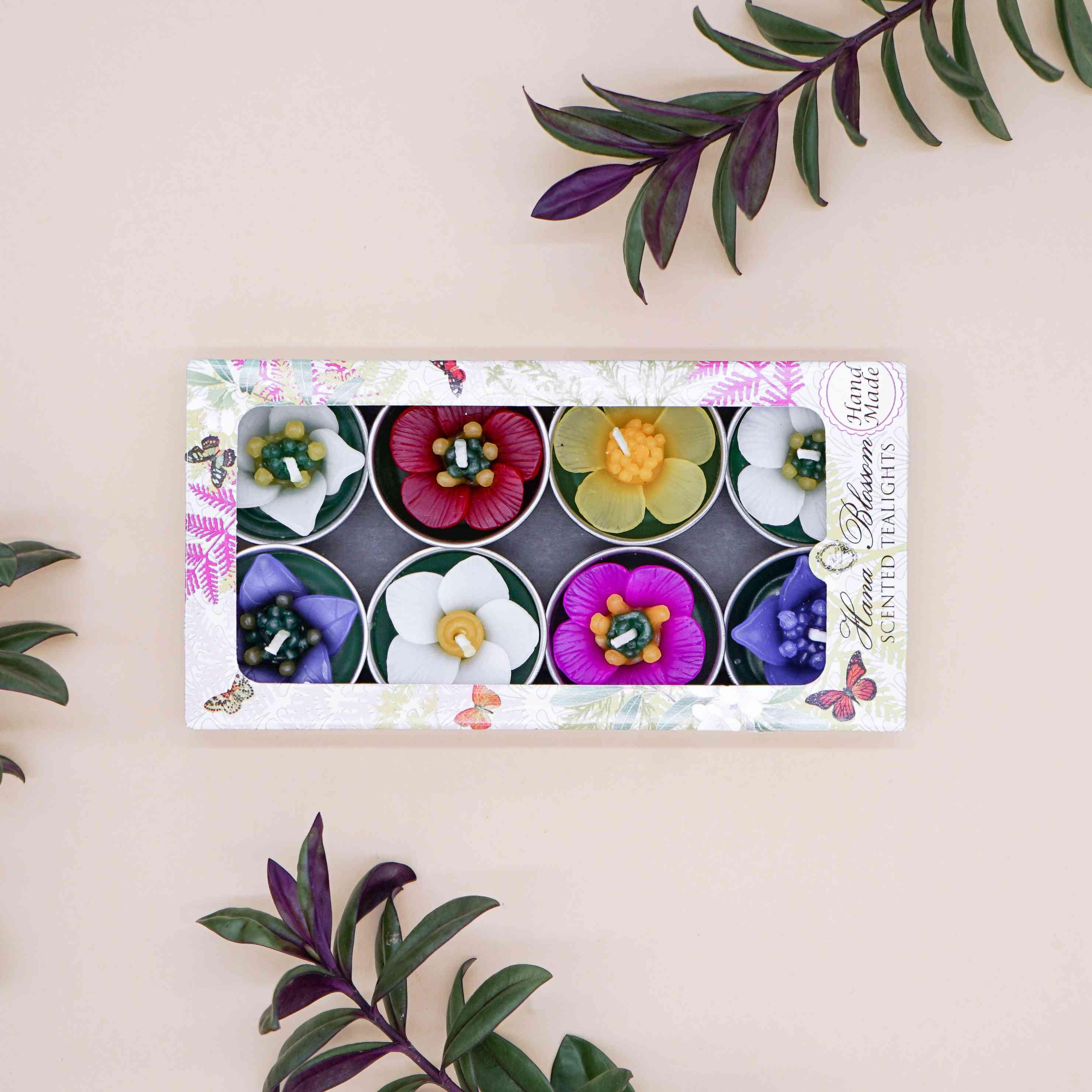 Assorted 8 Garden Flower Scented Tealights