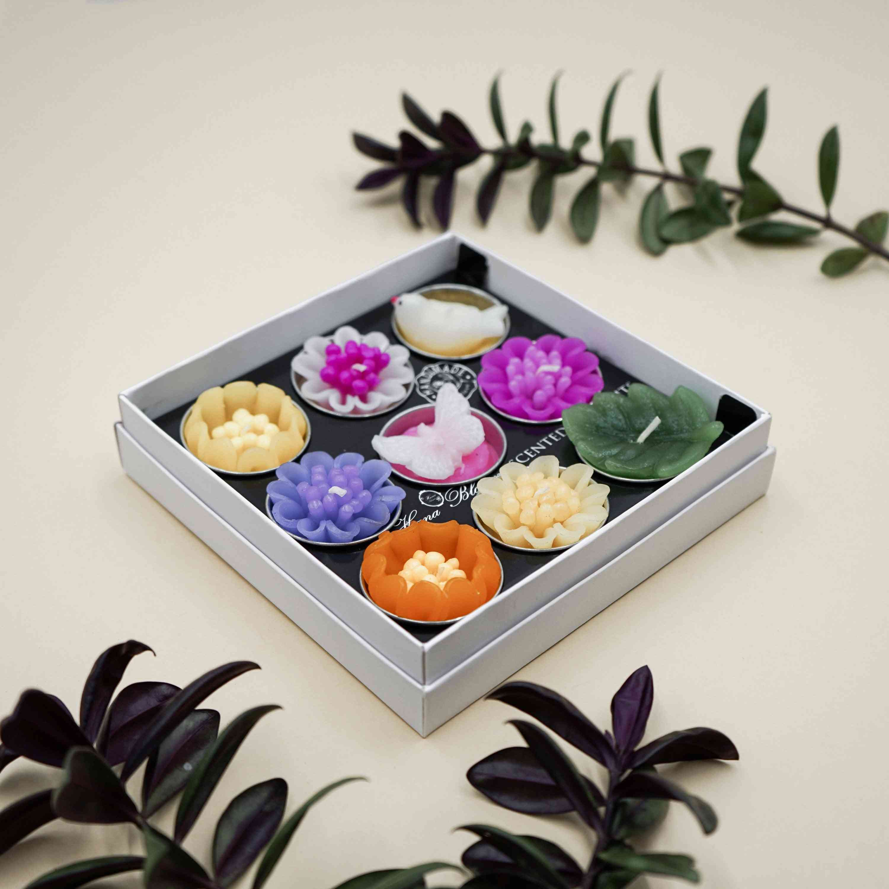 Big Assorted Butterfly Bird And Flower Scented Tealights