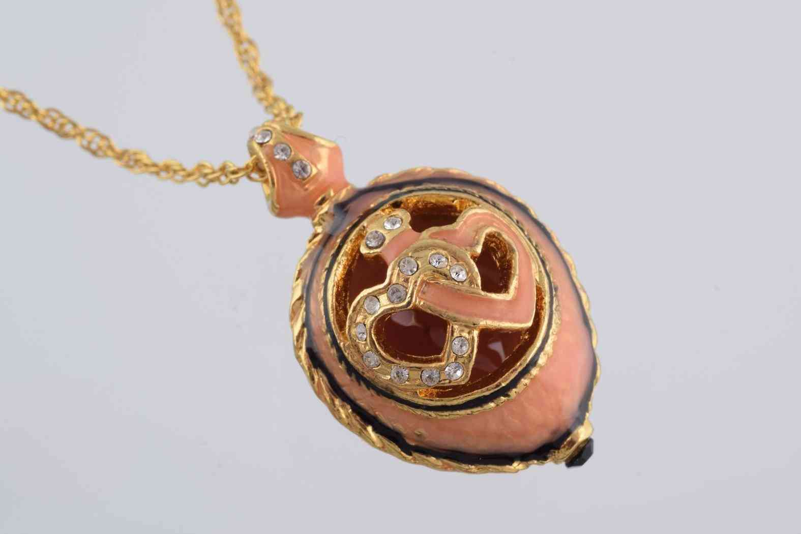 Peach Love Egg Pendant Necklace