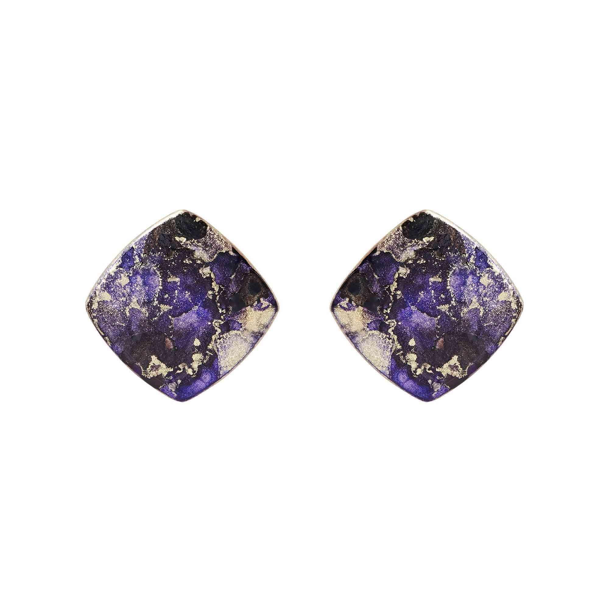 Mini Diamond Shape Earrings