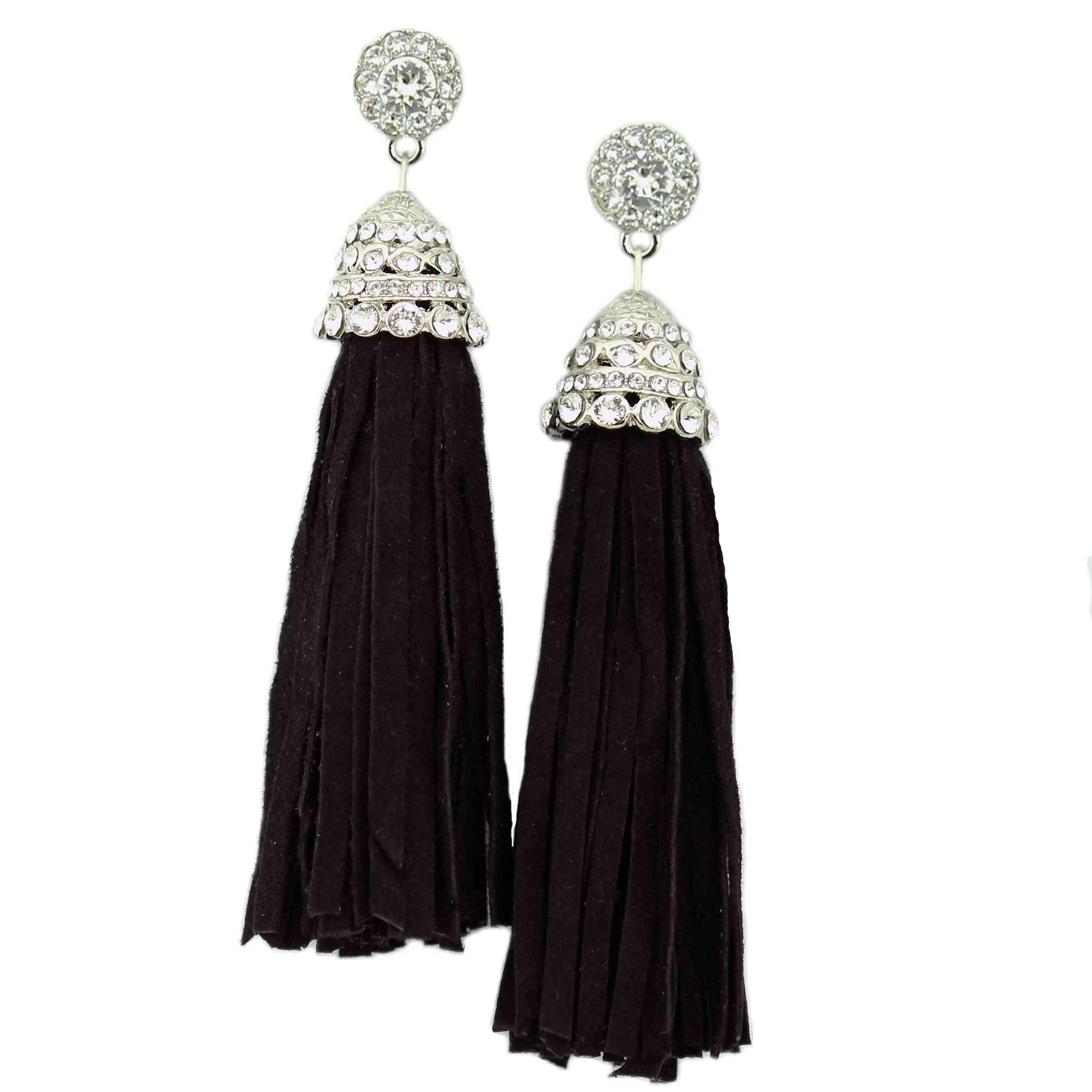 Suede Tassel Earrings