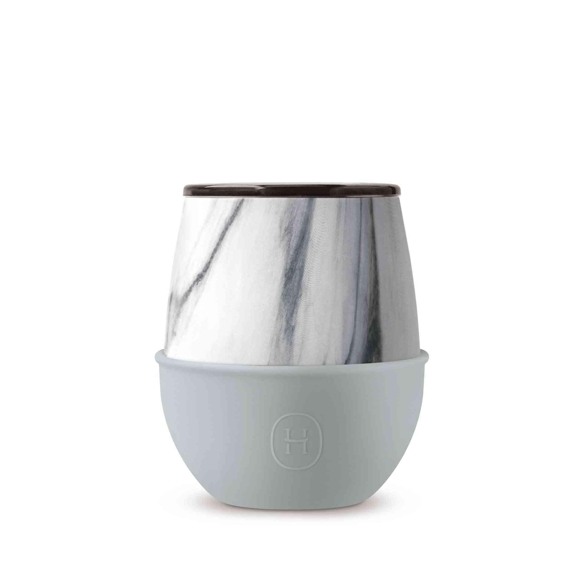 White Marble Design Thermal Tumbler