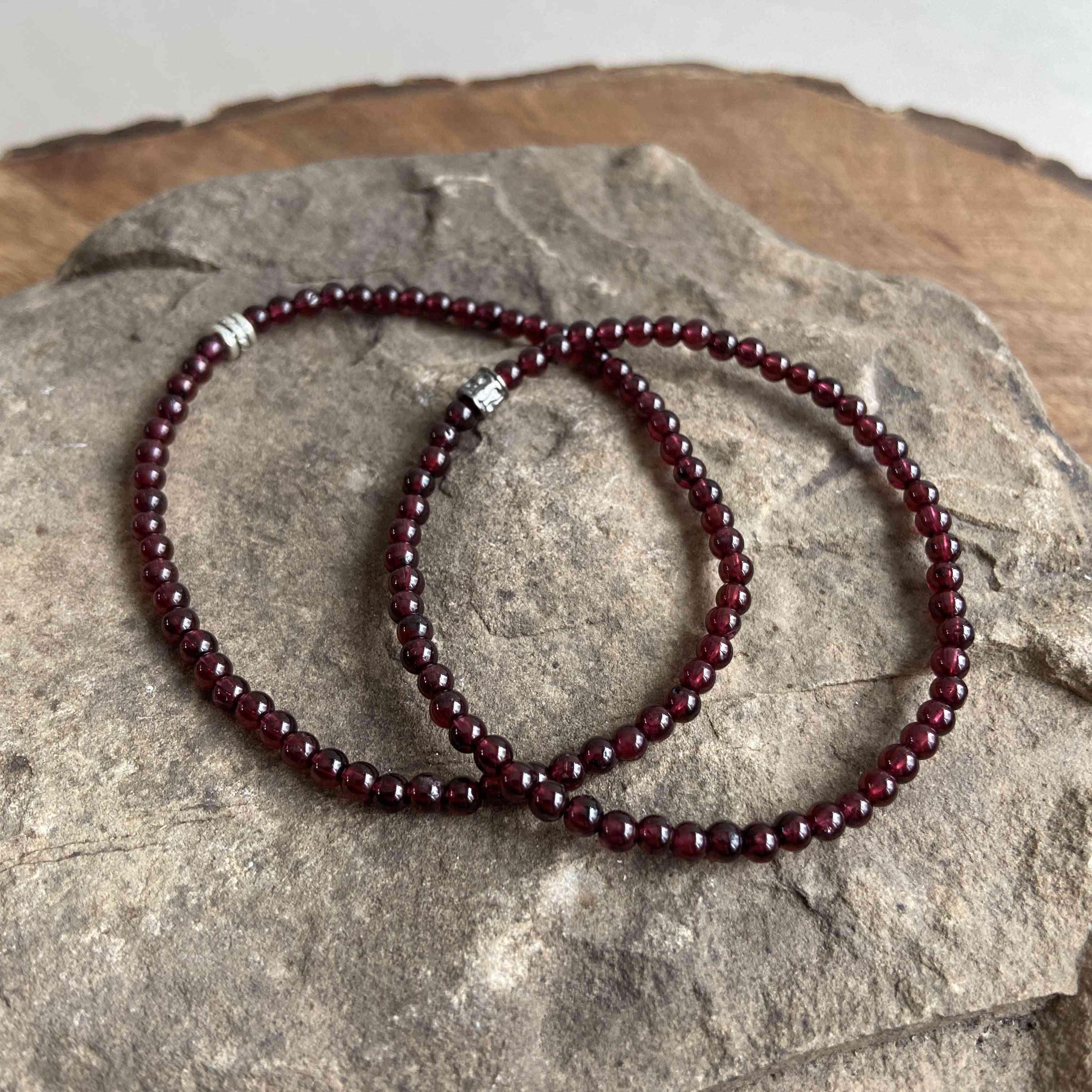Garnet Mini Bead Bracelet