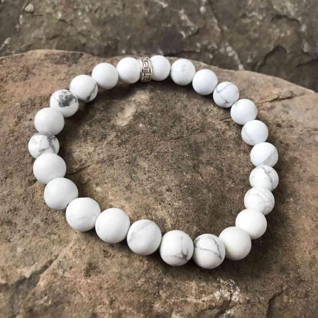 Howlite Bead Stone Bracelet's