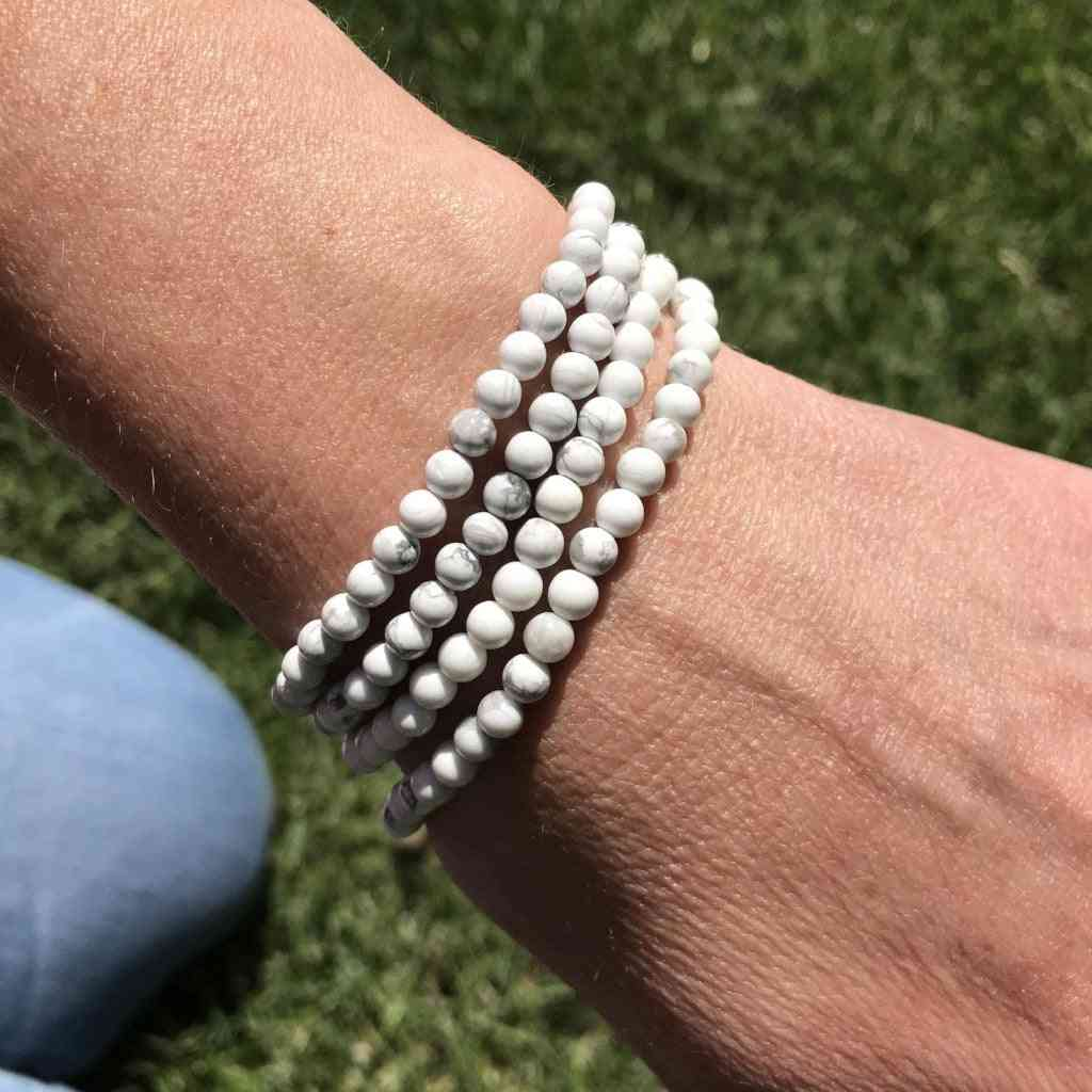 Howlite Mini Bead Bracelet