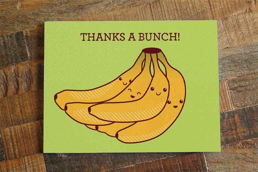 Bananas Thank You Card Thanks A Bunch
