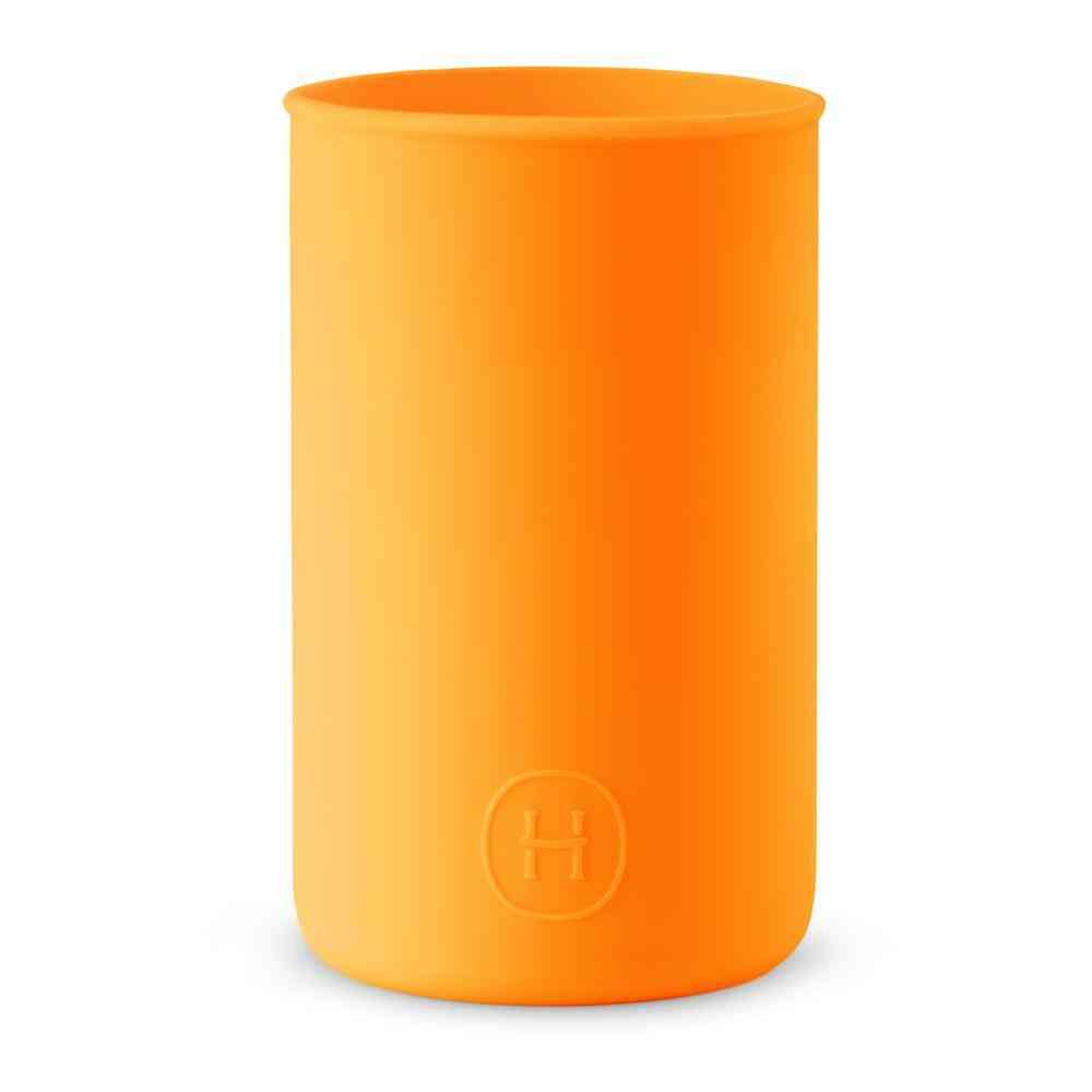 Silicone Sleeve Pumpkin Orange Water Bottle