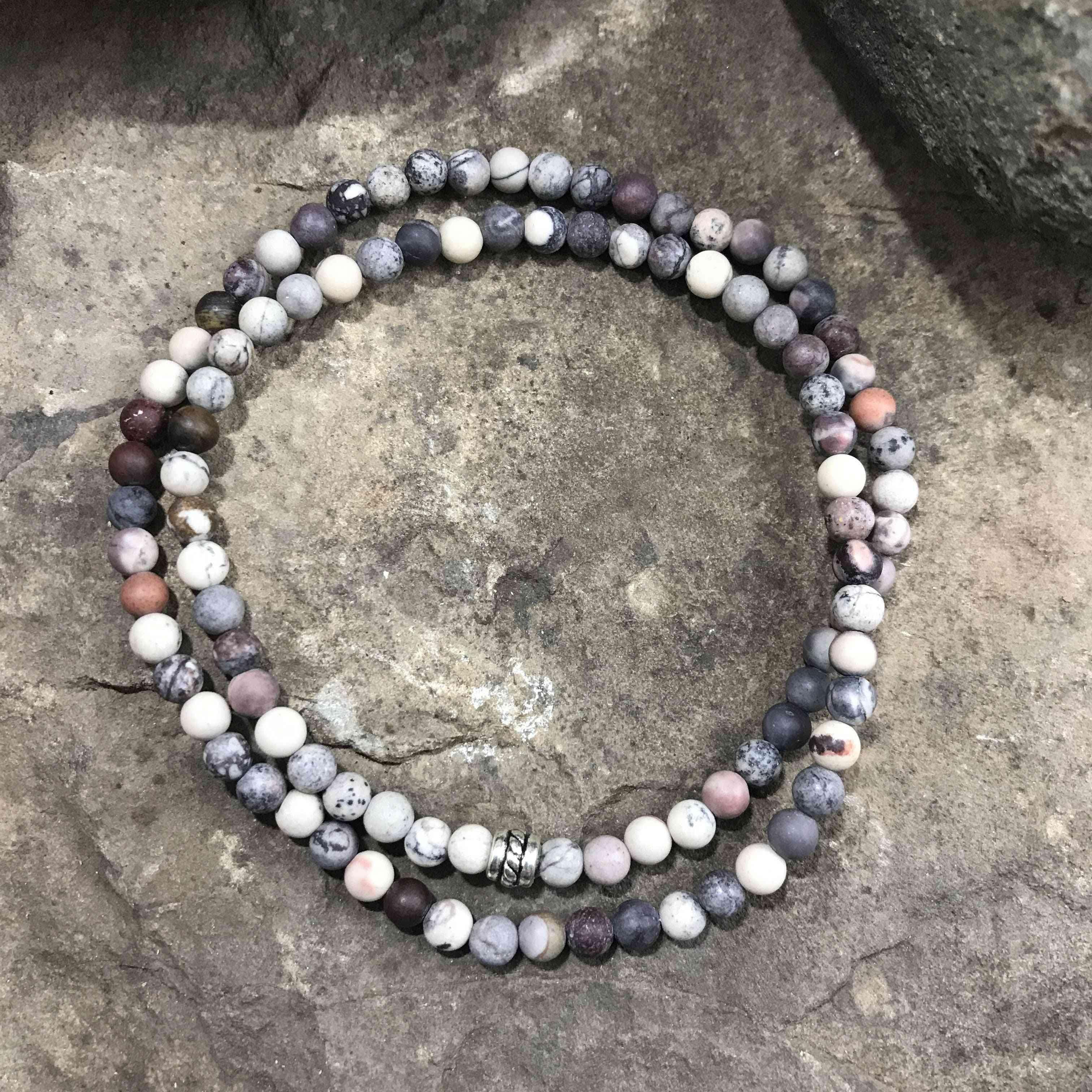 Porcelain Jasper Mini Bead Bracelet
