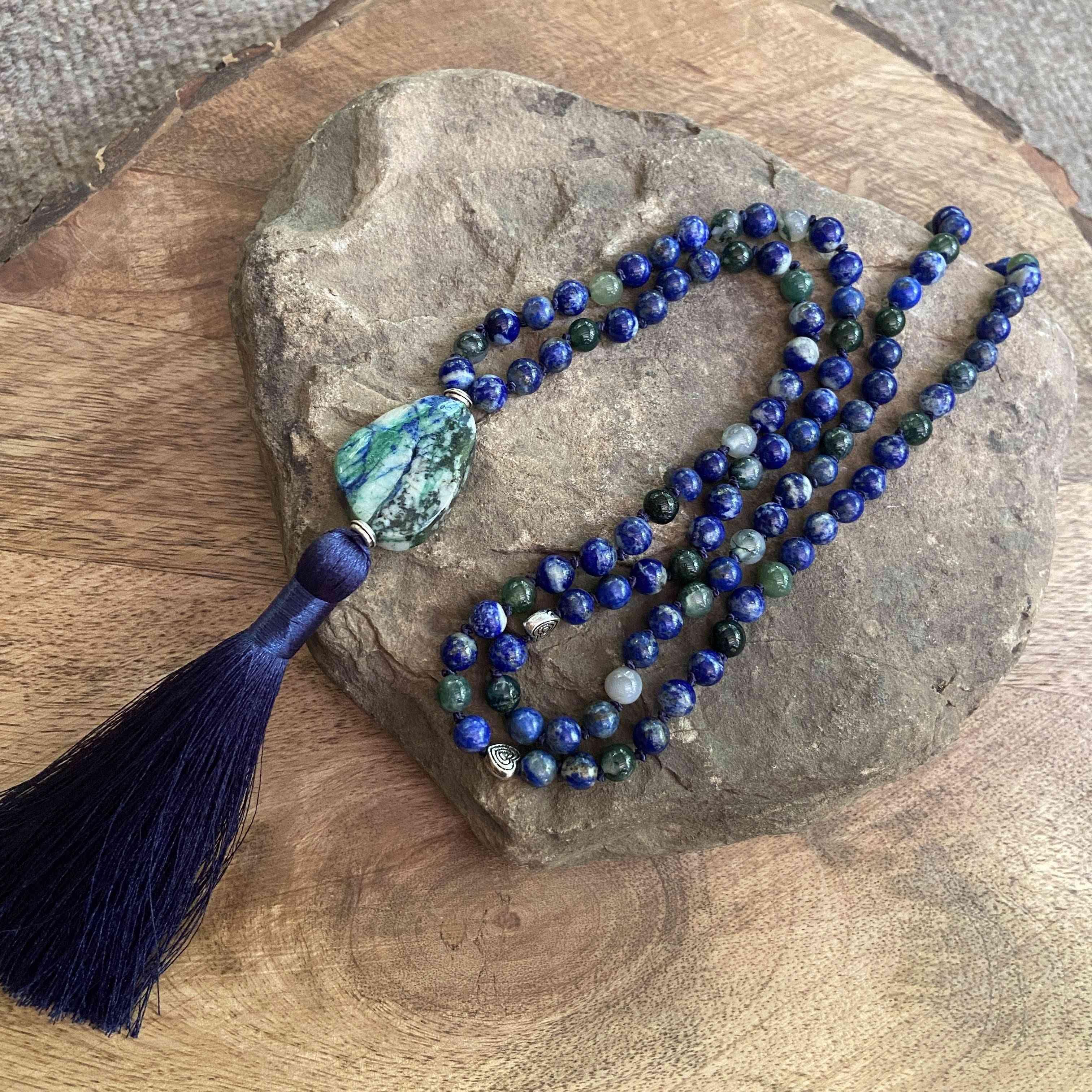 Blue Beads Mala