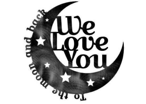 To The Moon & Back Moon Metal Wall Art