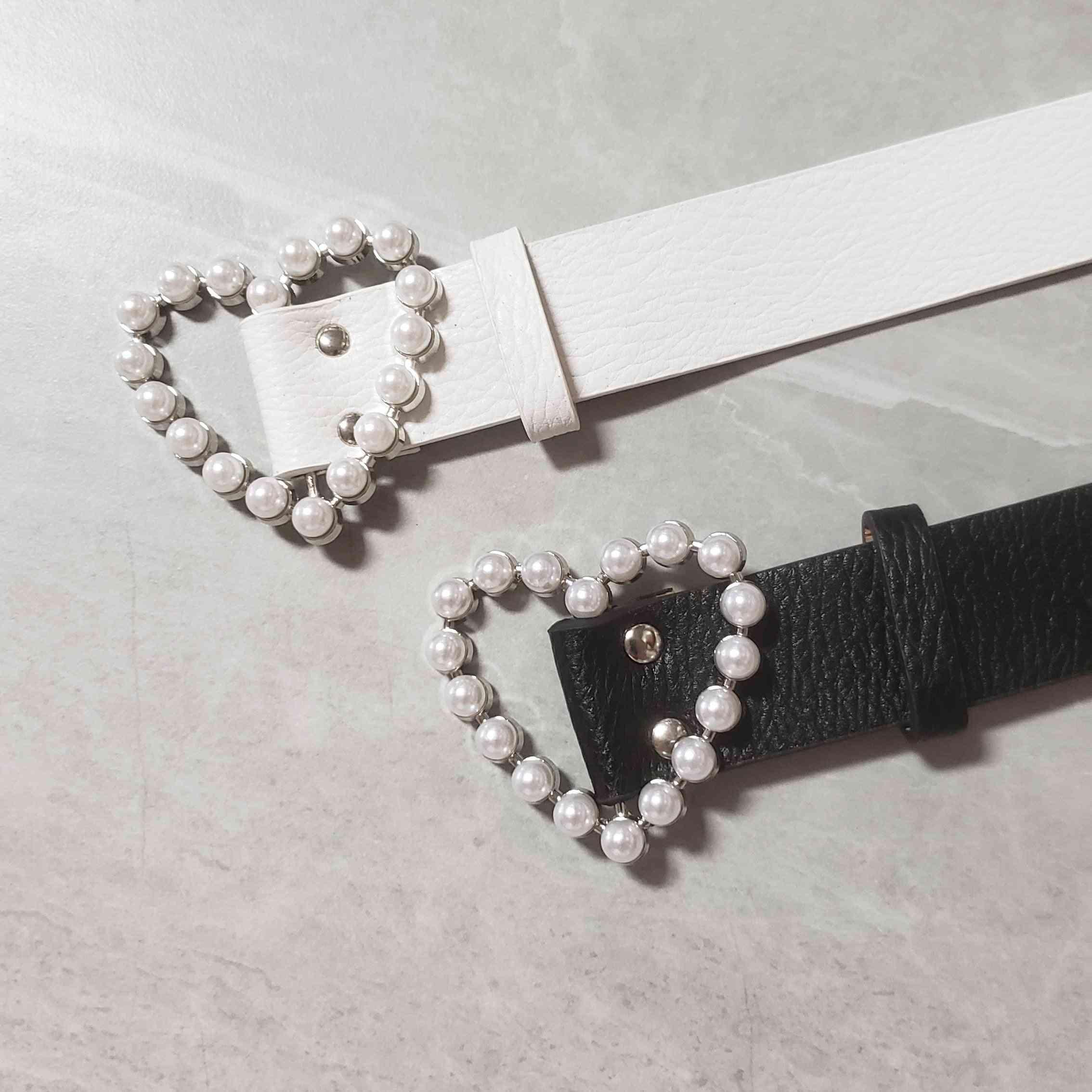 Pearl Heart Waist Belt