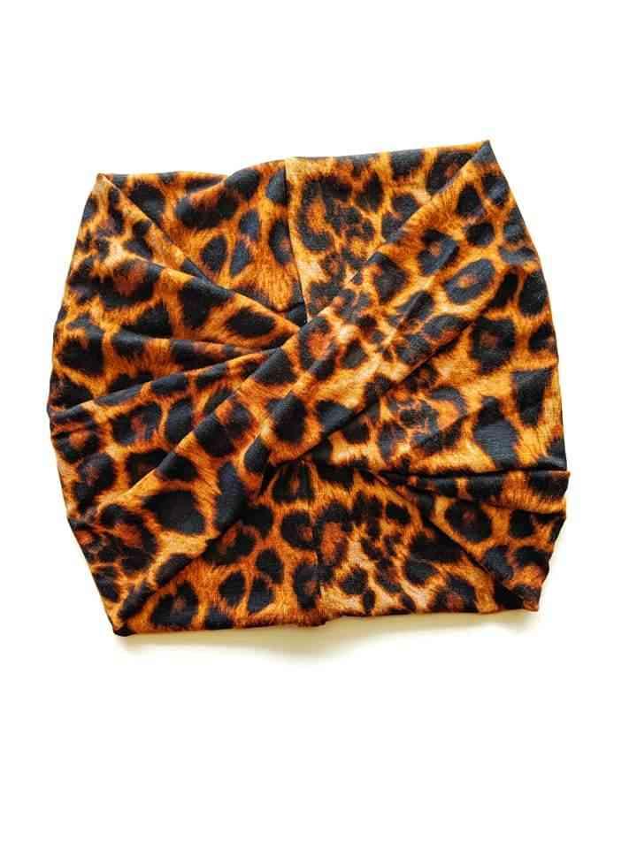 Leopard Print Wide Headband