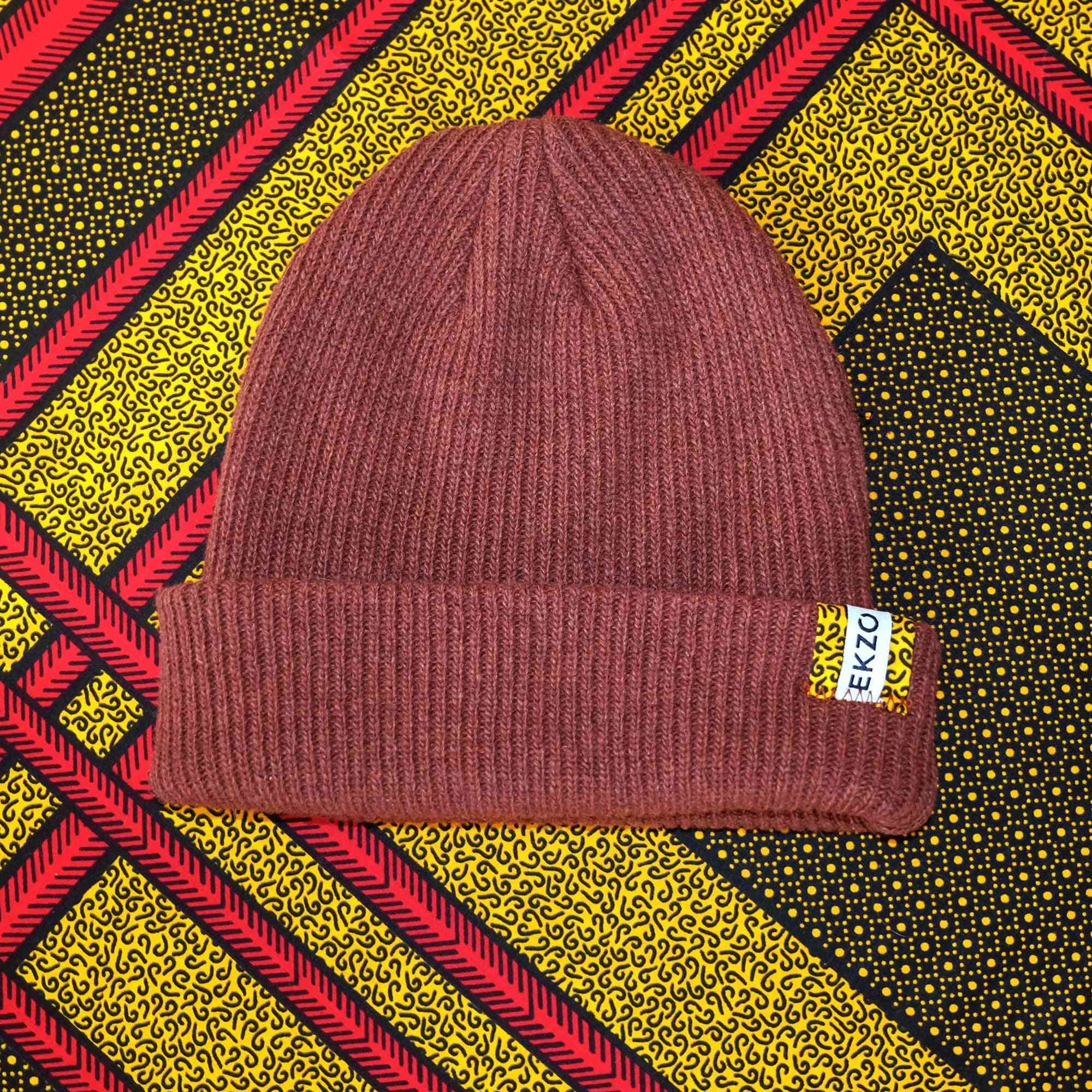 Soft And Cozy Wool Beanie Caps-maroon