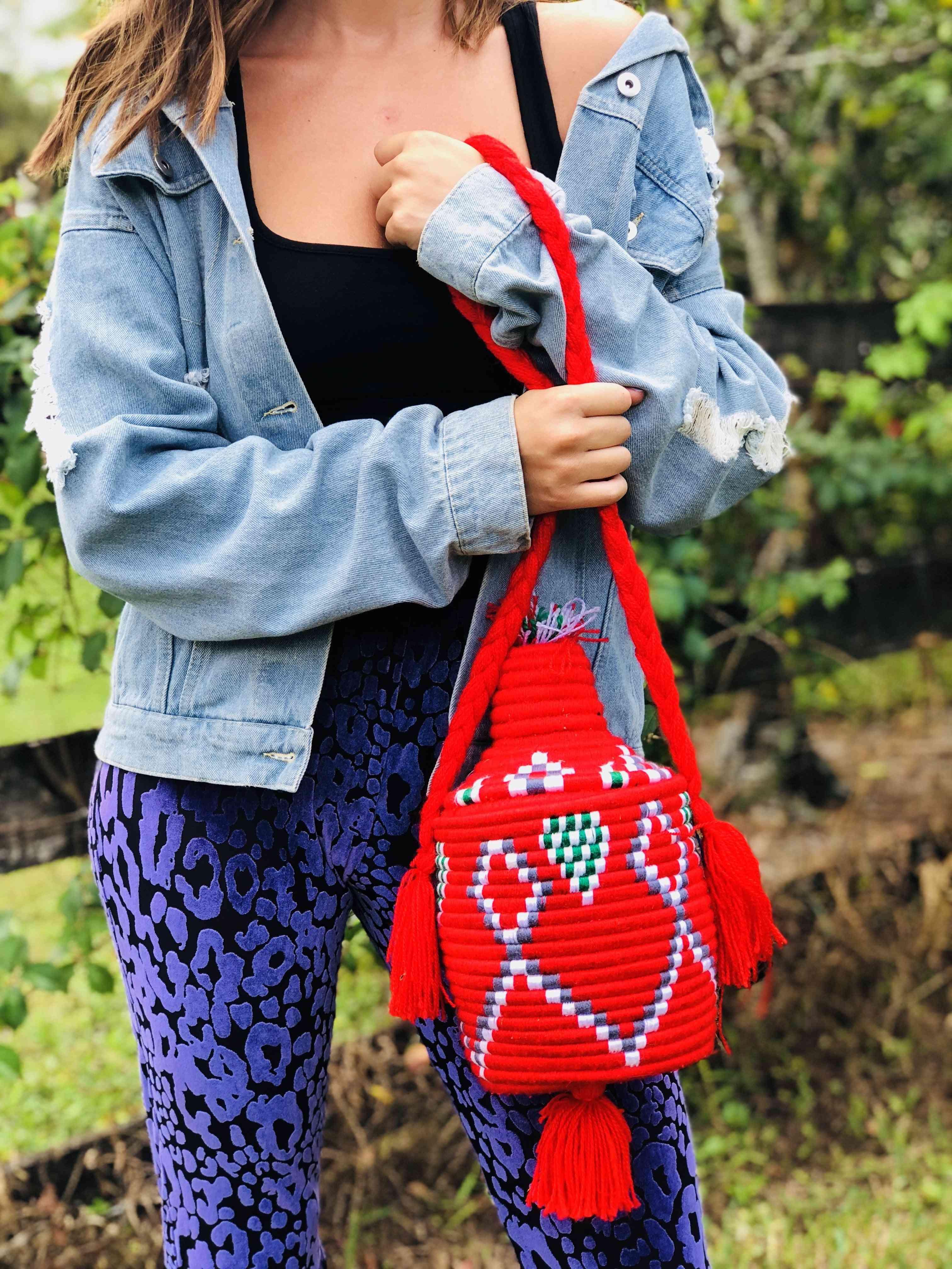 Traditional Bead Basket Bag