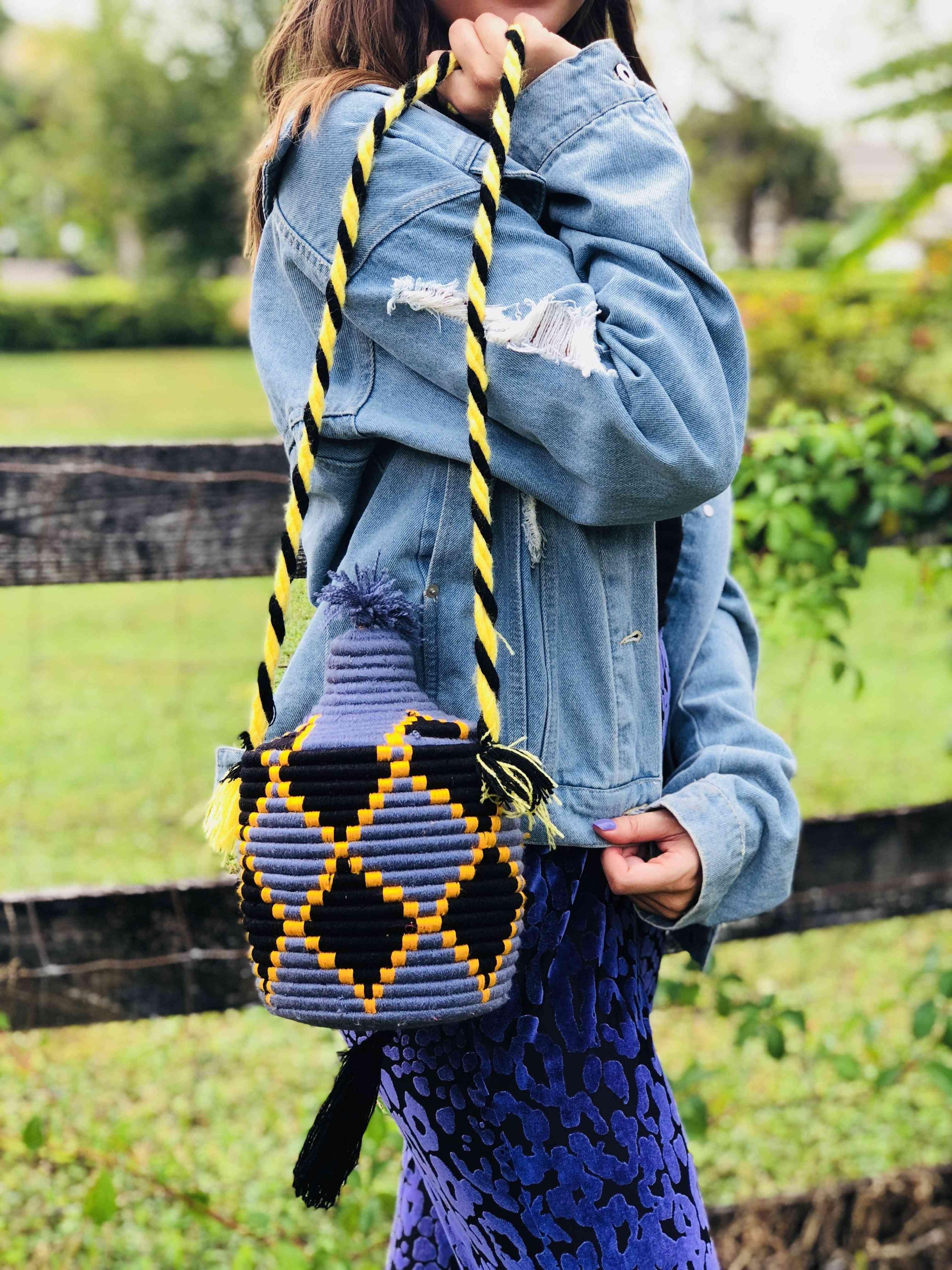 Traditional Handmade Bead Bucket Bag