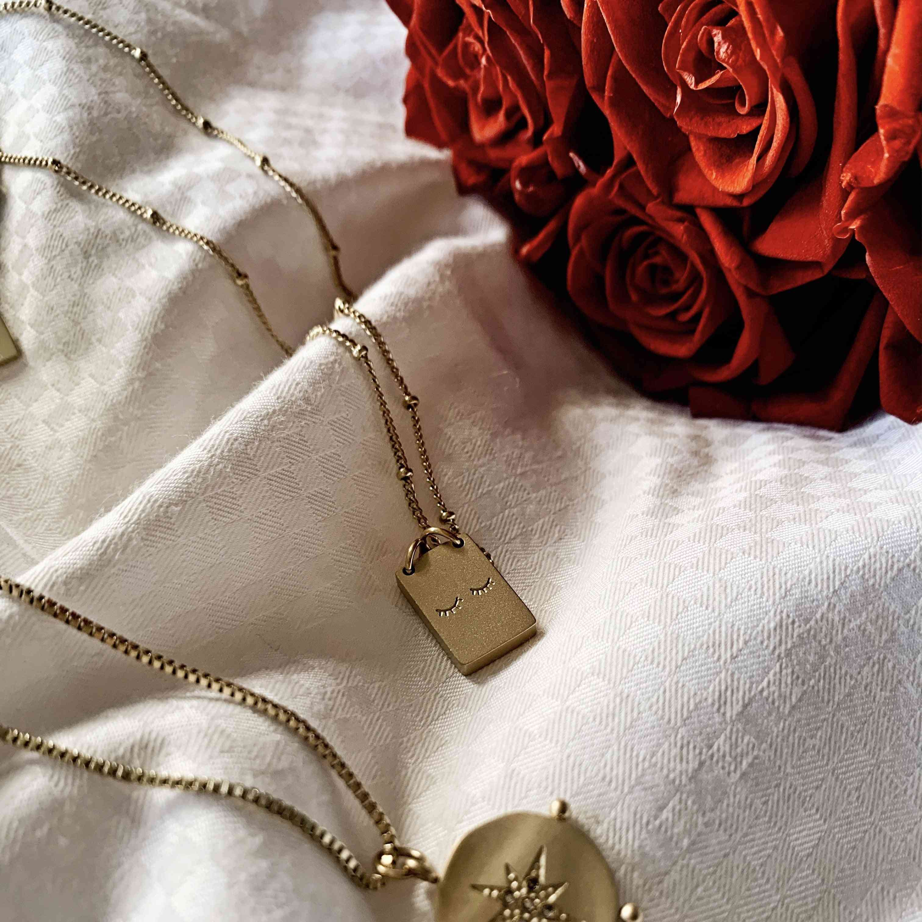 Two Little Lashes Necklace