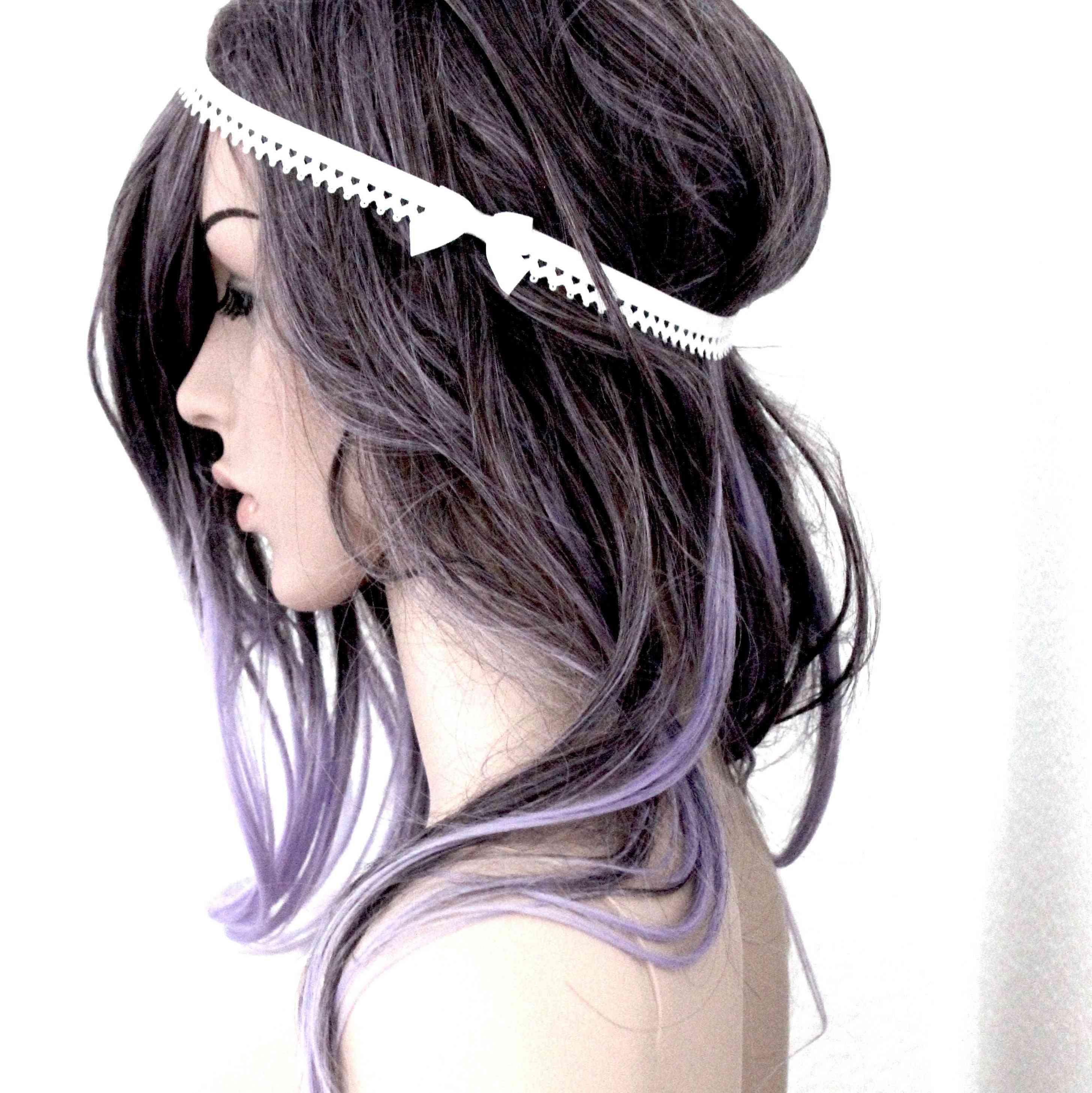 Picot-trimmed Headband