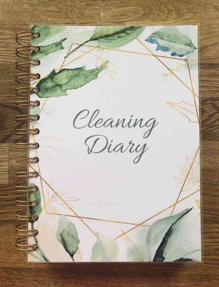 Floral Print Cleaning Diary