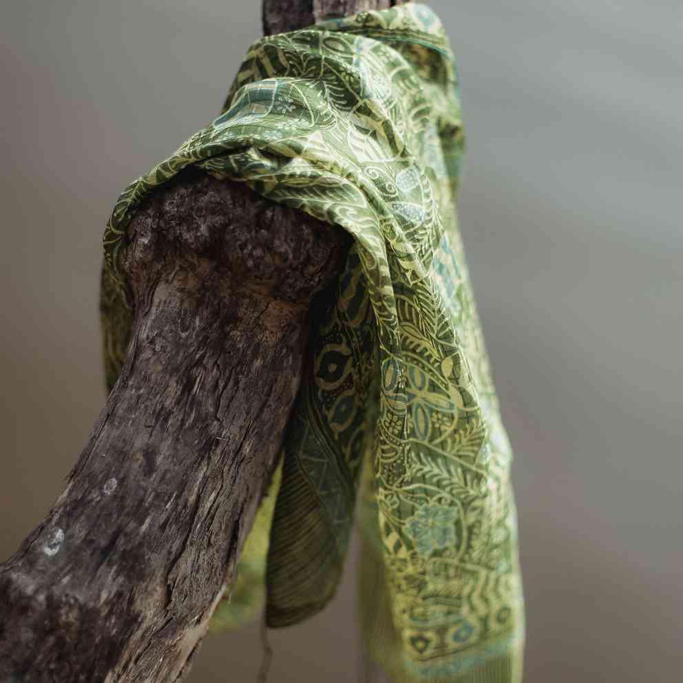 Daun Silk Batik Scarf