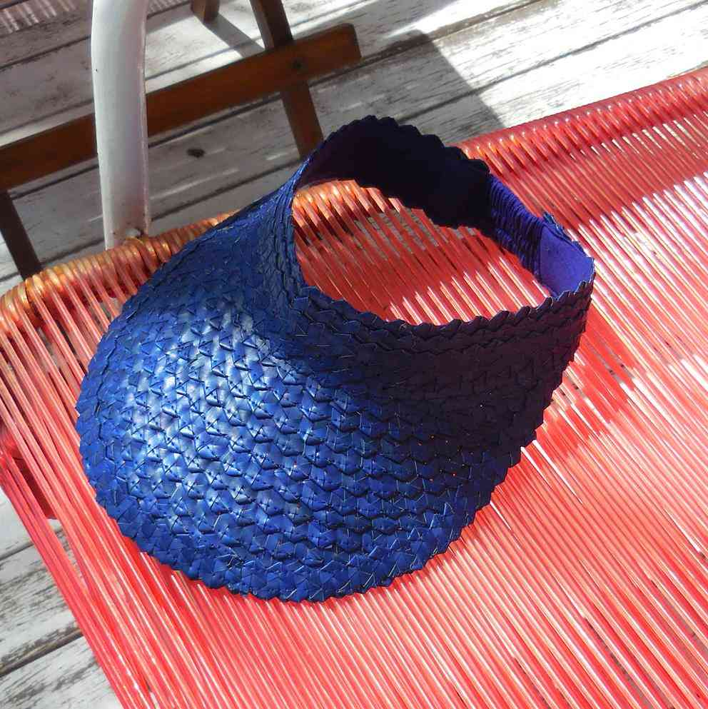 Comfortable Wear Visor Straw Hat