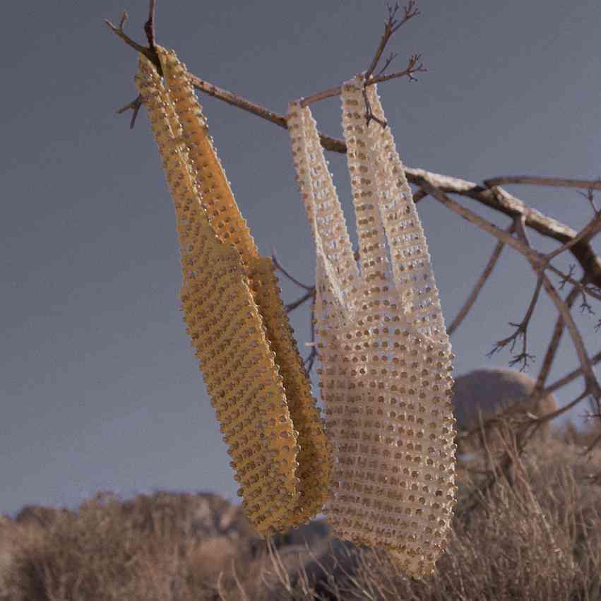 Wooden Beads Crochet Bag