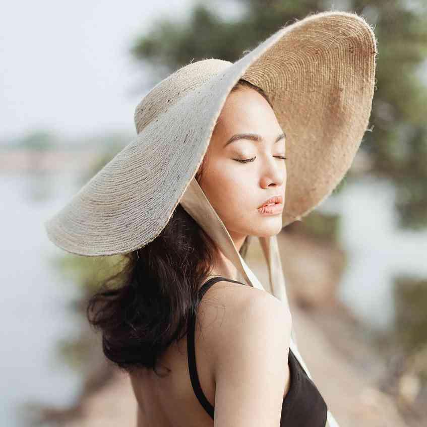 Wide Brim Jute Straw Hat