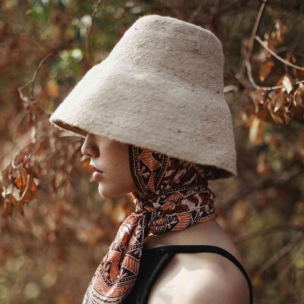 Natural Jute Straw Bucket Hat