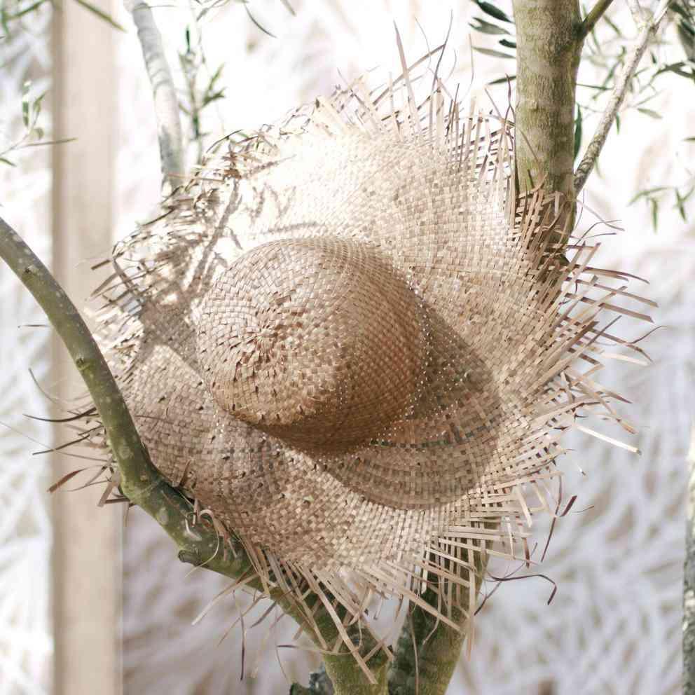 Wide Round Palm Straw Hat