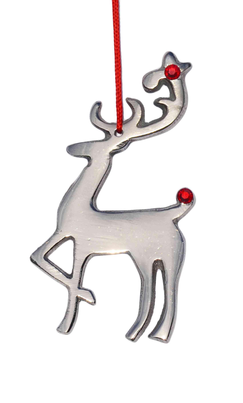 Aluminum Metal Reindeer Ornament For Christmas Decoration