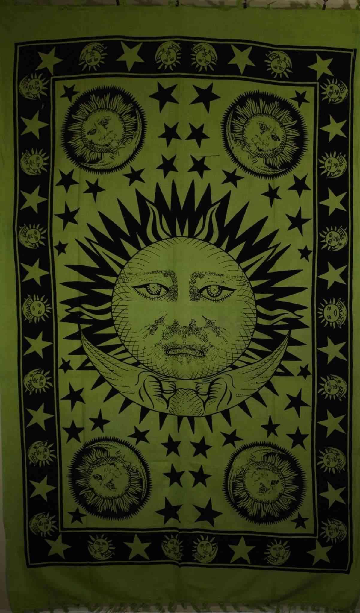 Celestial Style Sun Moon & Stars Tapestry