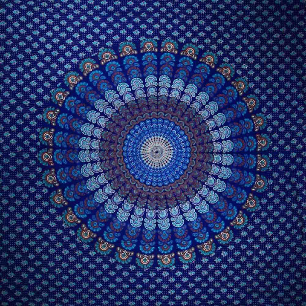 Peacock Dance Mandala Tapestry