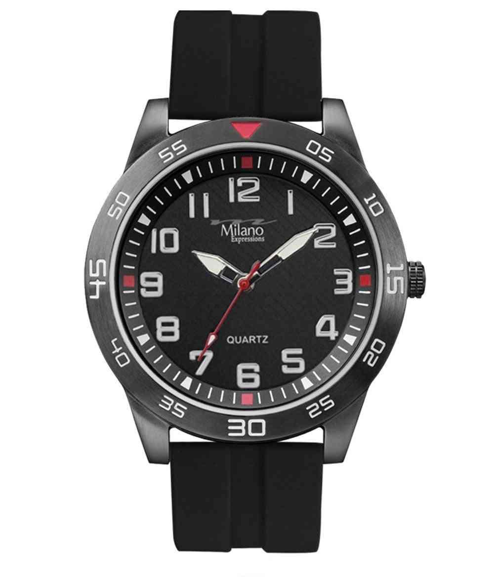 Silicon Rubber Strap Watch
