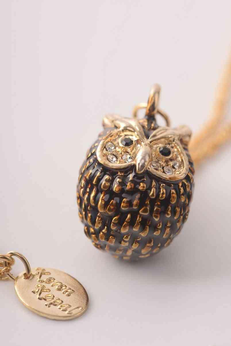 Owl Charm - Pendant Necklace