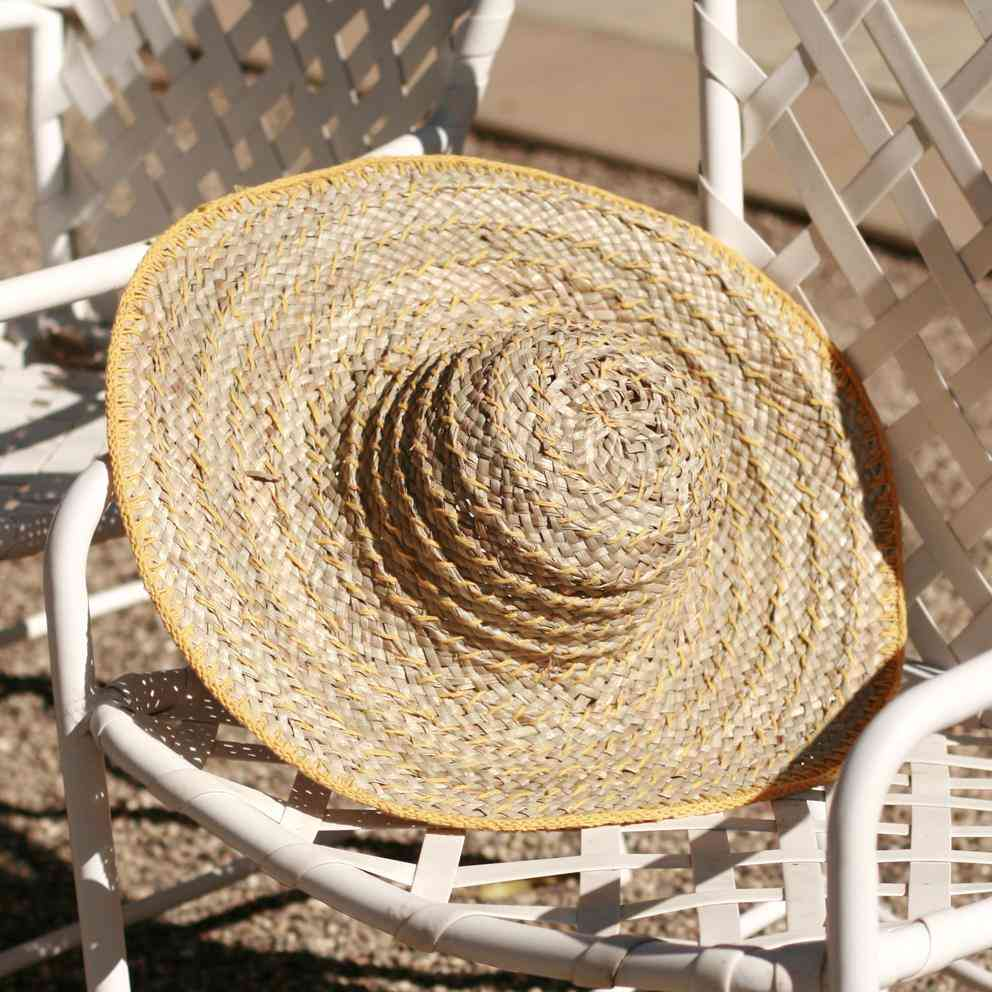 Lontar Palm Leaves Wide Round Straw Hat