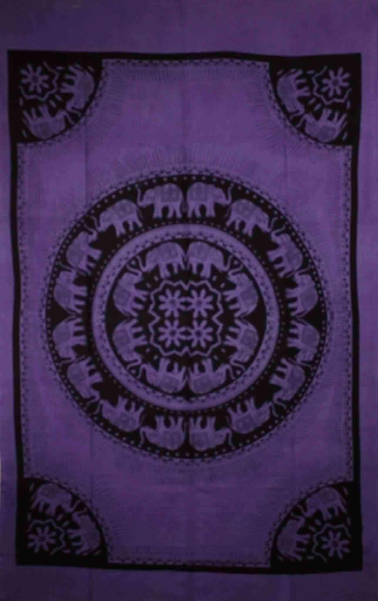 Elephants Mandala Tie Dye Tapestry