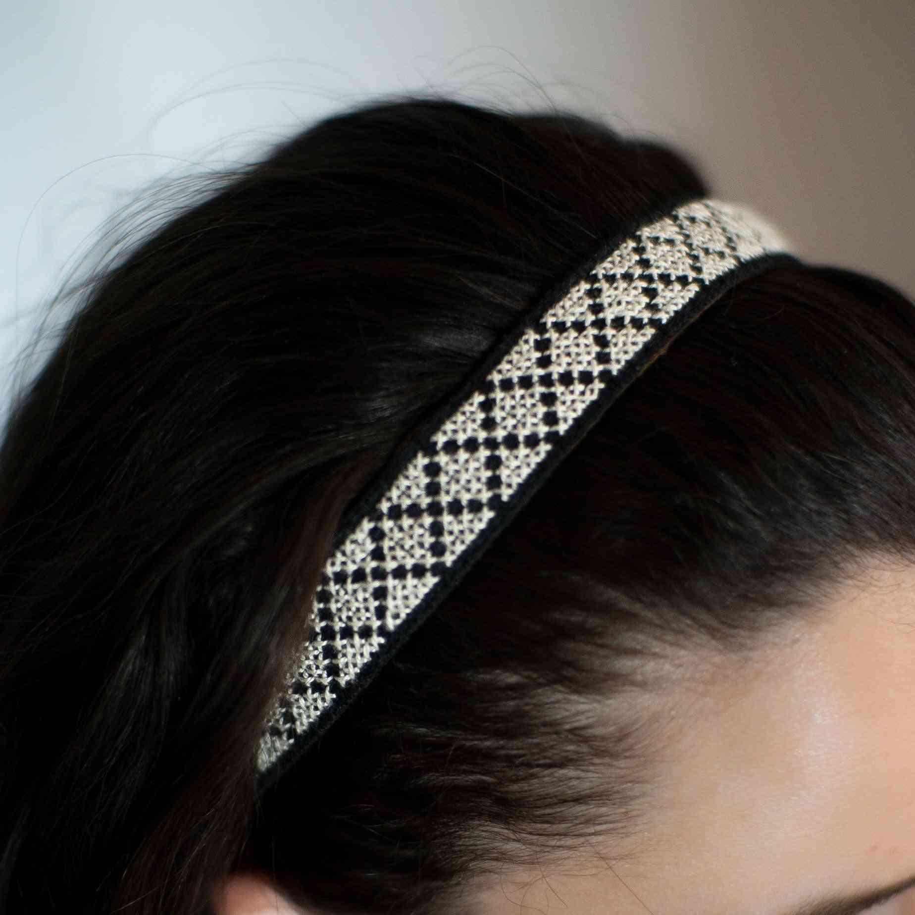 Girls Modern Style Embroidered Headband