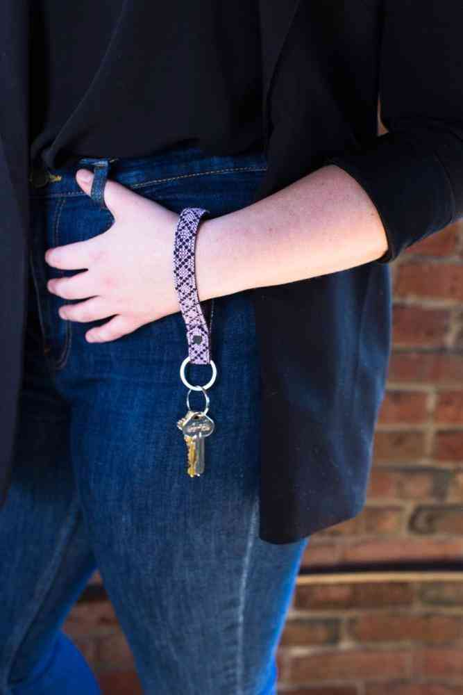 The Lavender Leather Key Fob