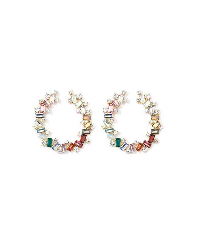 Crystal Round Nye Earrings