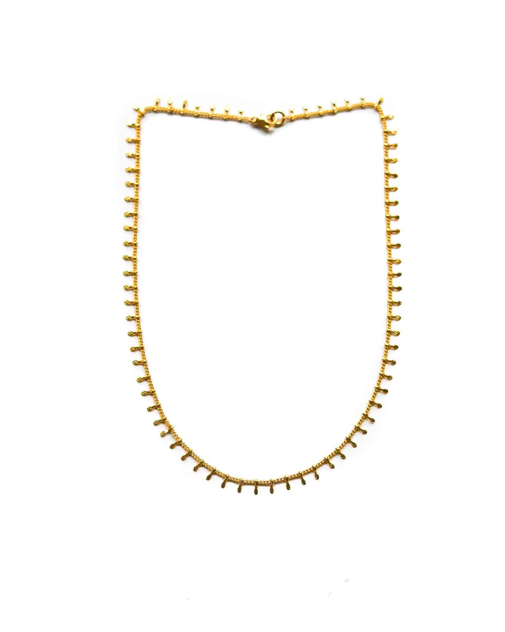Hammered Lace 24k Gf Chain