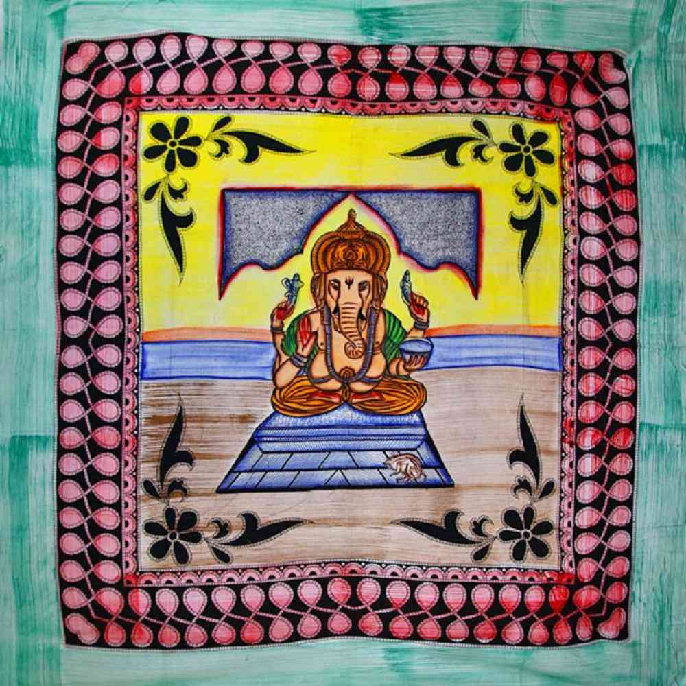 Ganesha Tapestry, Accented With Tassels