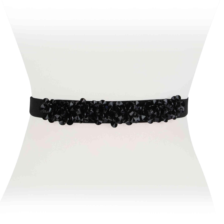 Floral Crystal Stretch Belt