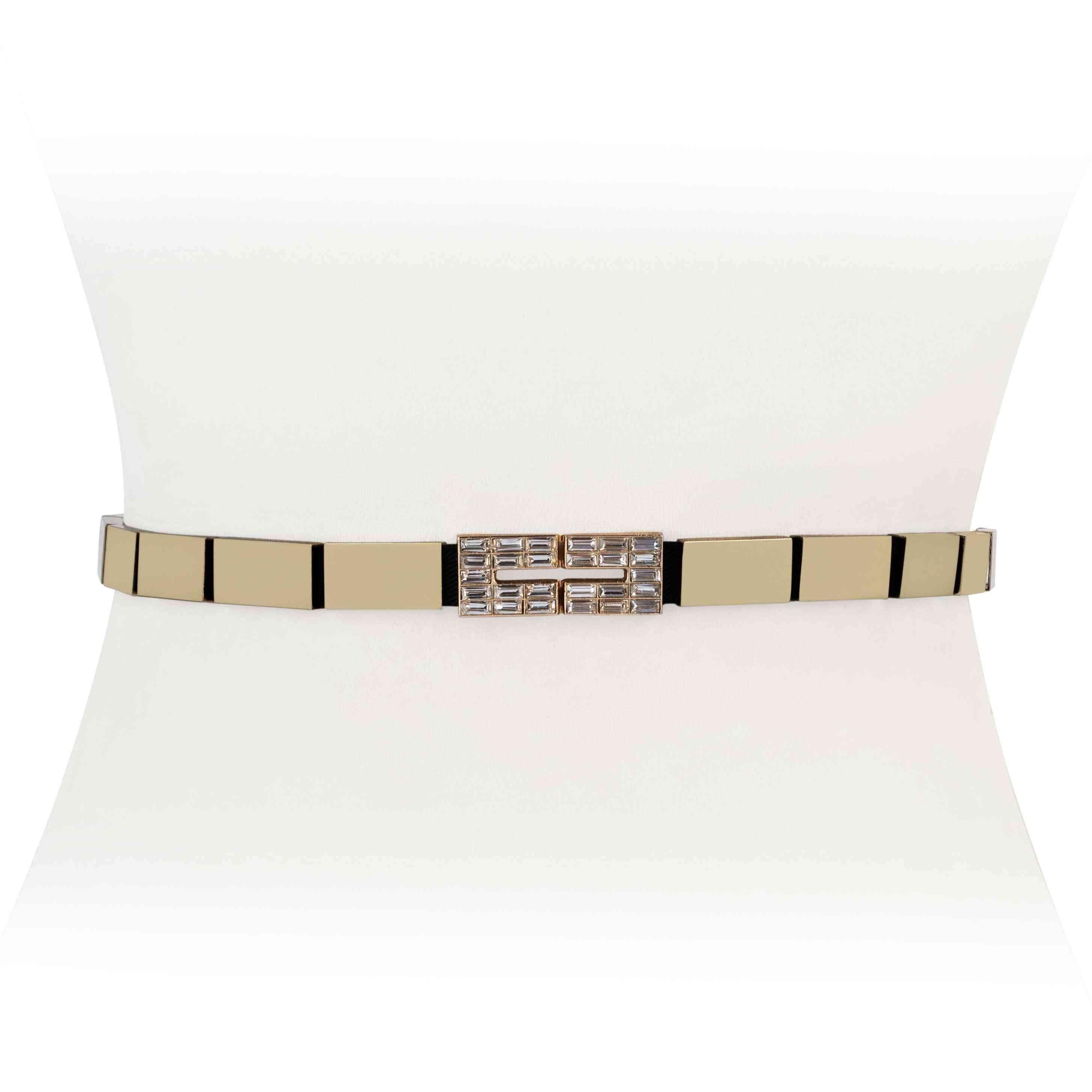 Diamond Stretch Striped Belt