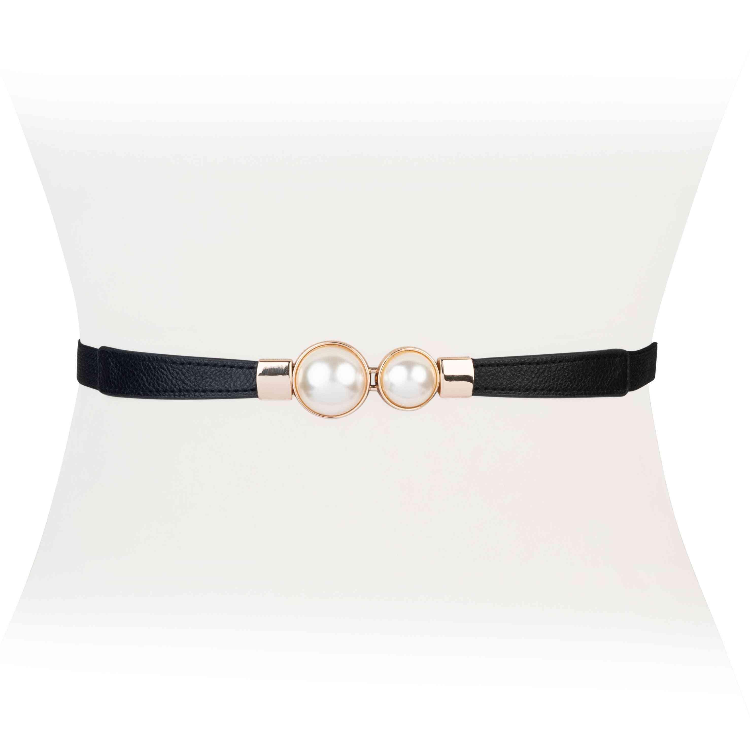 Pearl Clasp Stretch Belt