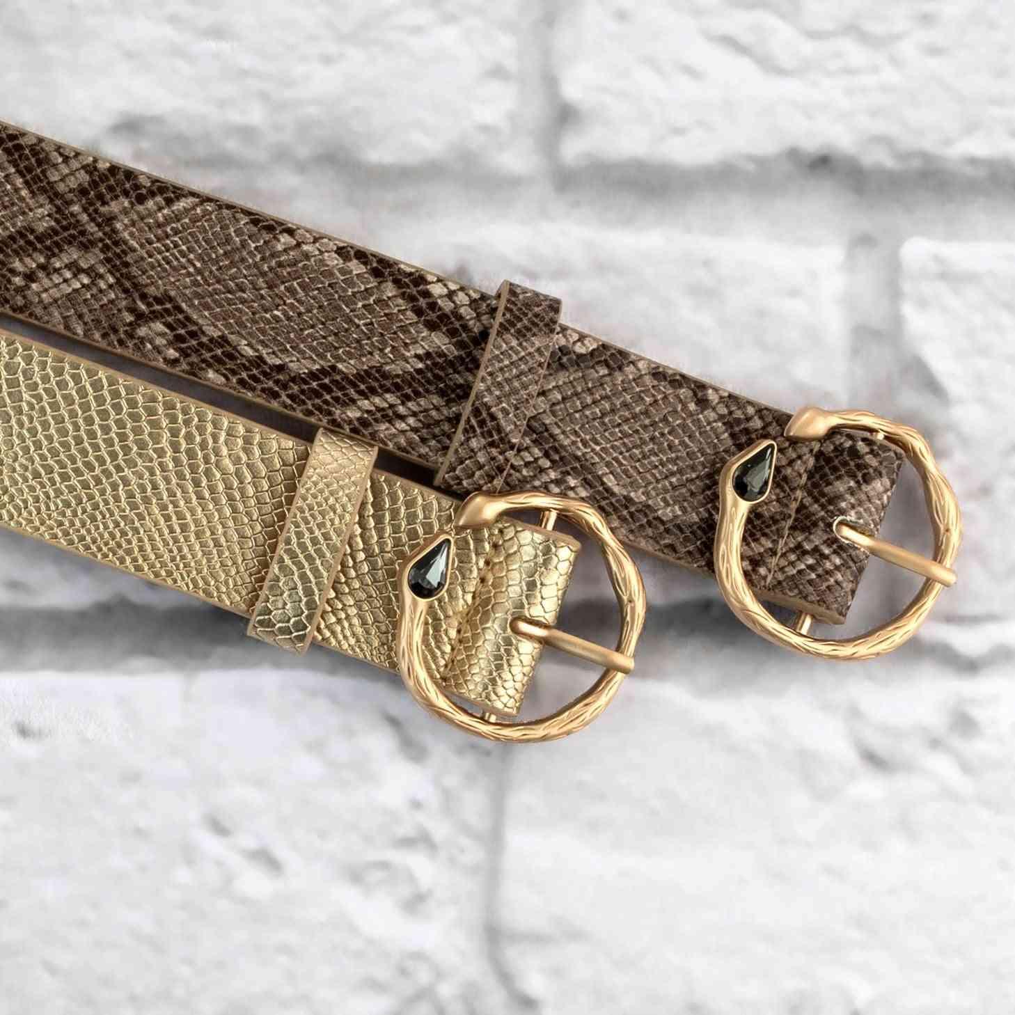Diamond Snake Skin Belt