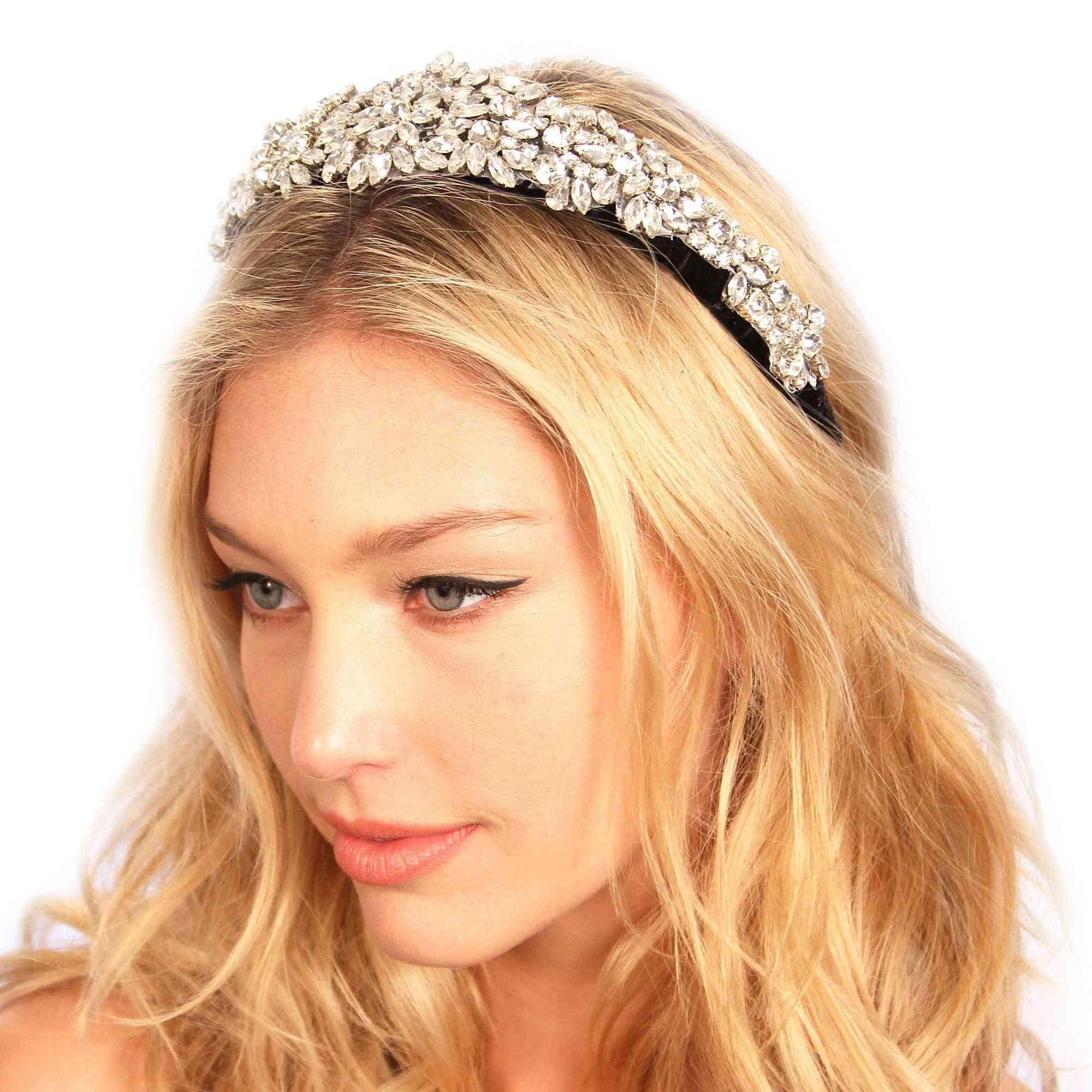 Crusted Crystals Velvet Headband