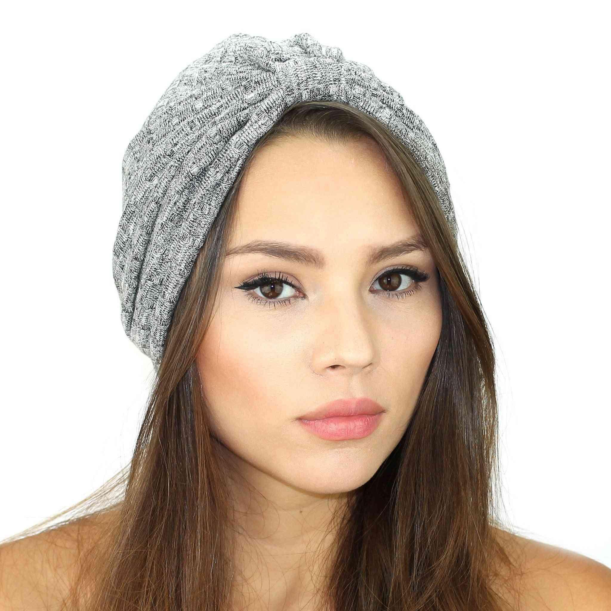 Ultra Soft Rib Knit Turban Hat