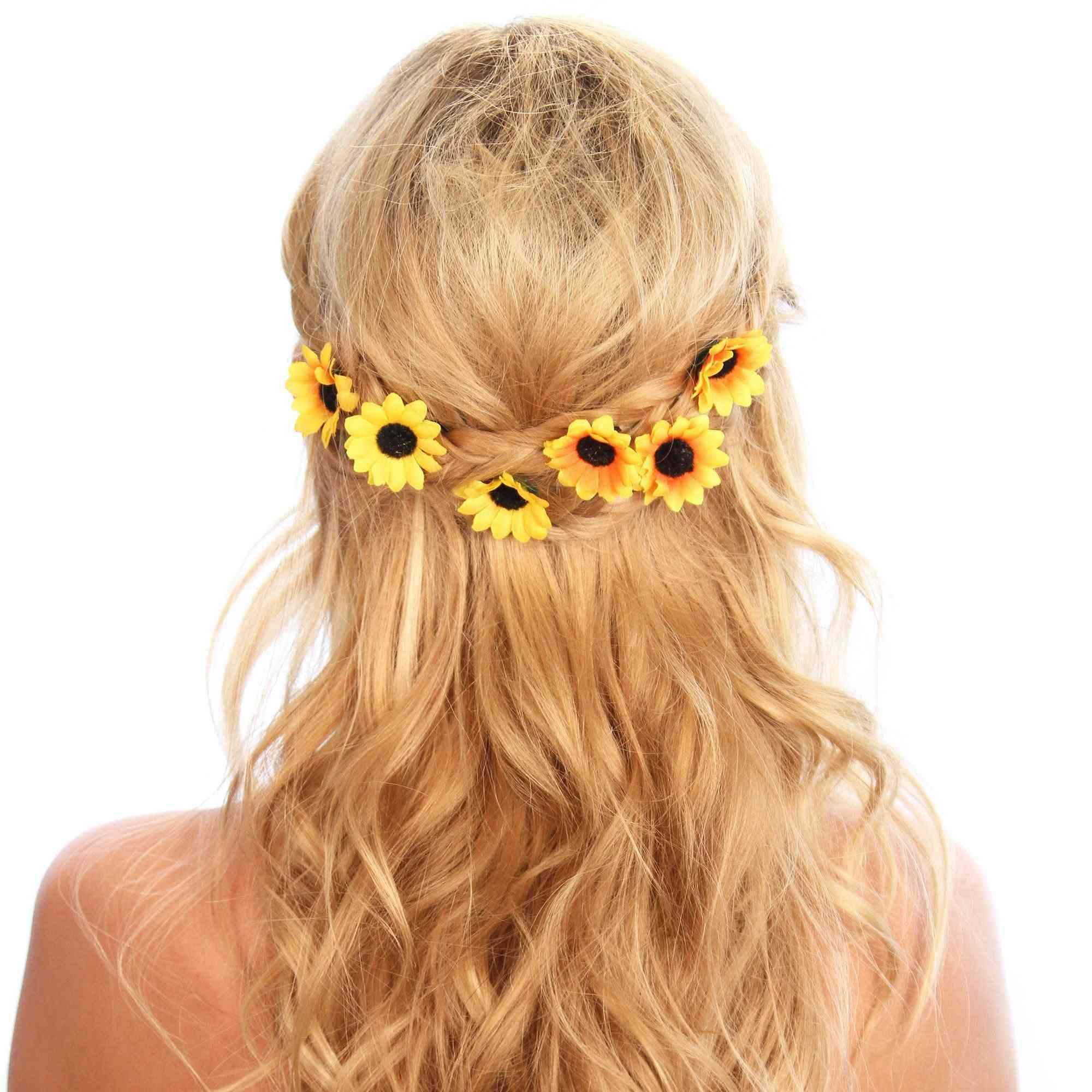 Sunflower Hair Grip Bobby Pins