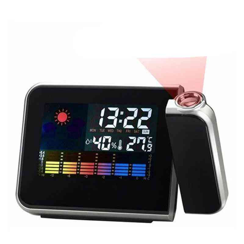 Digital Lcd Display Projection Table Clock